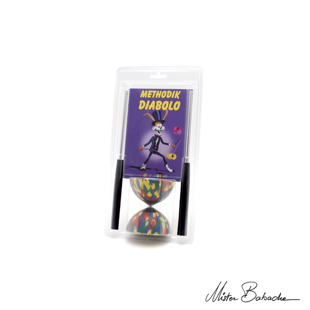 Diabolo ARLEQUIN medium en blister (bag. alu ST50, ficelle, notice)