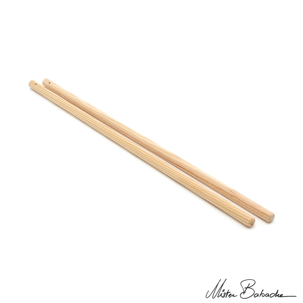 Diabolo wooden handsticks - beech (without string)