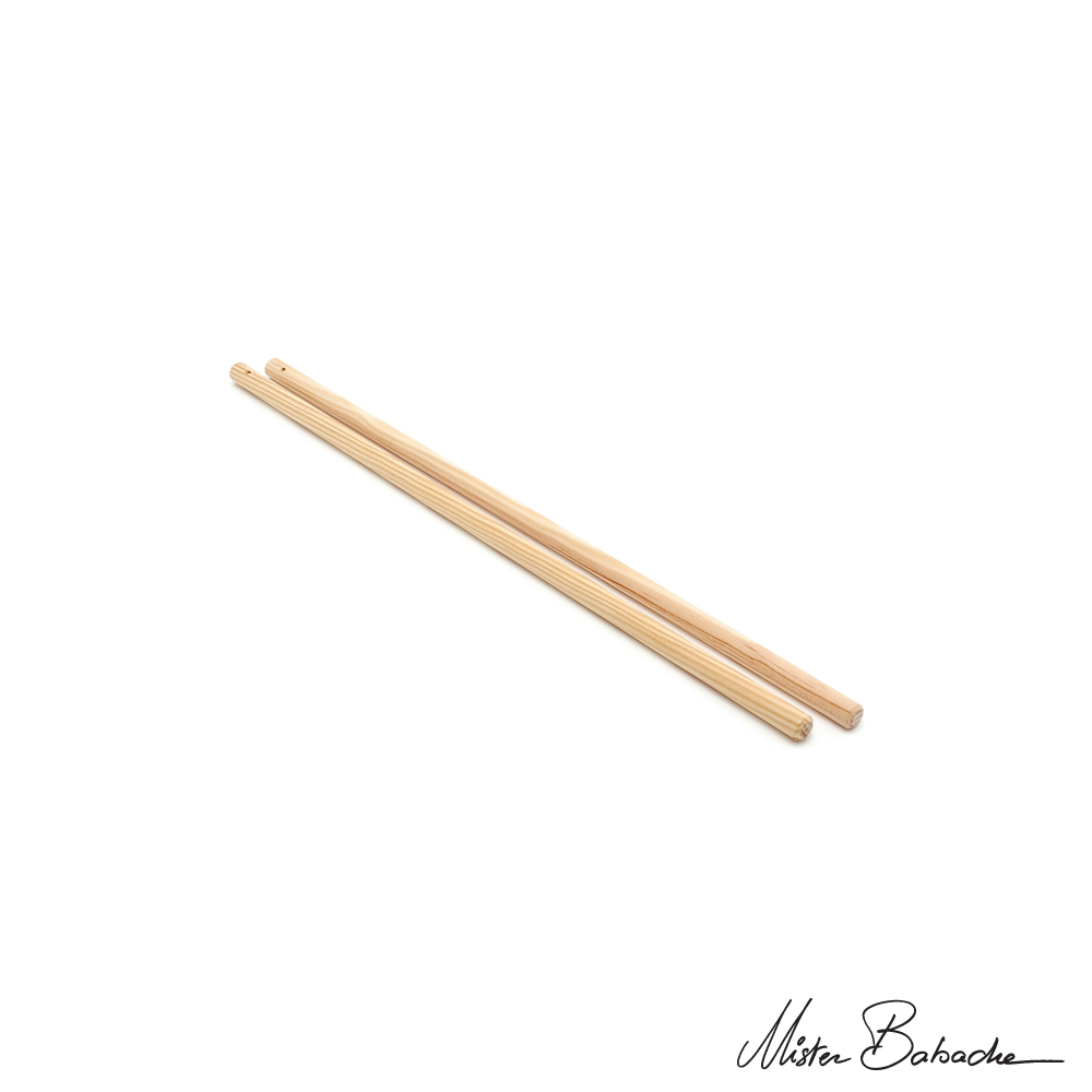 Diabolo wooden handsticks - short - beech (without string)