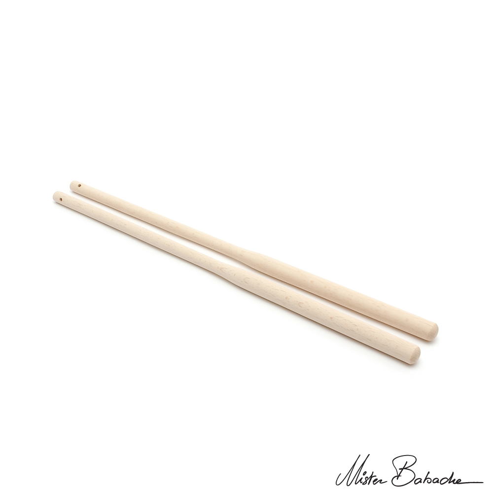 Diabolo wooden handsticks - Deluxe - raw beech (without string)