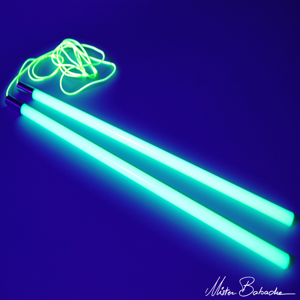 ENERGY colour diabolo handsticks (with string) - glow in the dark